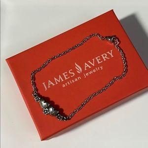 James Avery Retired Hearts & Flowers SS Bracelet